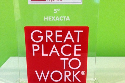 Hexacta was chosen by the global firm Great Place to Work as the best software company to work in Argentina.