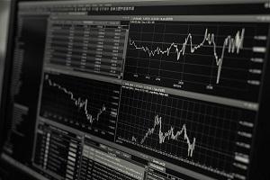 financial data on a screen