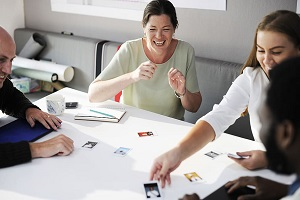 People having a story points meeting